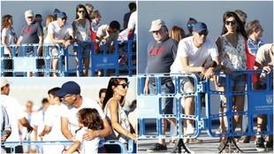 Zidane, junto a su mujer Véronique, este sábado en Leganés