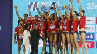 La secretaria de Estado para el Deporte, María José Rienda, entregó...