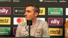 Valverde, en la rueda de prensa posterior al partido.