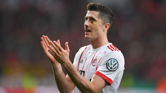 Lewandowski, durante un partido con el Bayern de la temporada pasada.