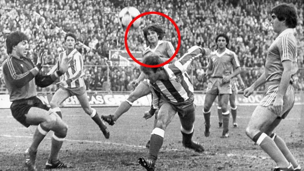 Tirapu, durante un partido frente al Atlético de Madrid de la Copa...
