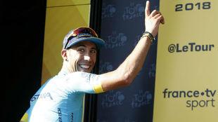 Omar Fraile durante el Tour de Francia.