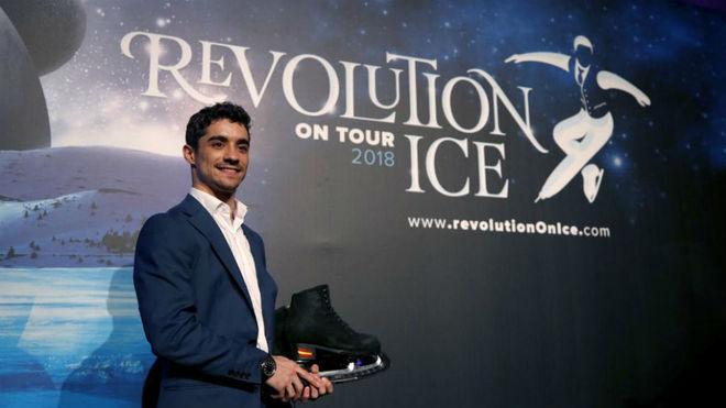 Javier Fernández, en la presentación de Revolution on Ice.