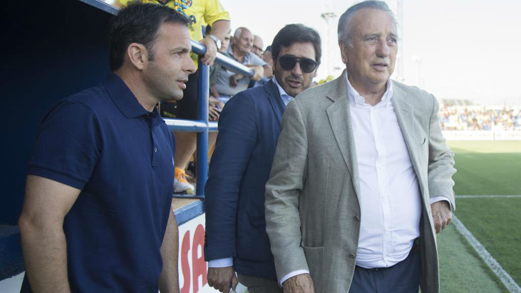 Javier Calleja (izquierda), Fernando Roig (derecha) y Roig Nogueroles...