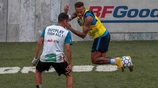 Neymar, en un torneo benéfico.