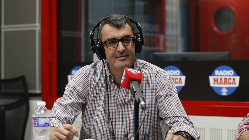Javier Guillén en una entrevista para Radio MARCA.