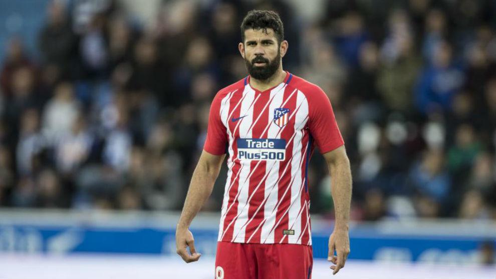 Diego Costa en un encuentro del Atlético de Madrid.