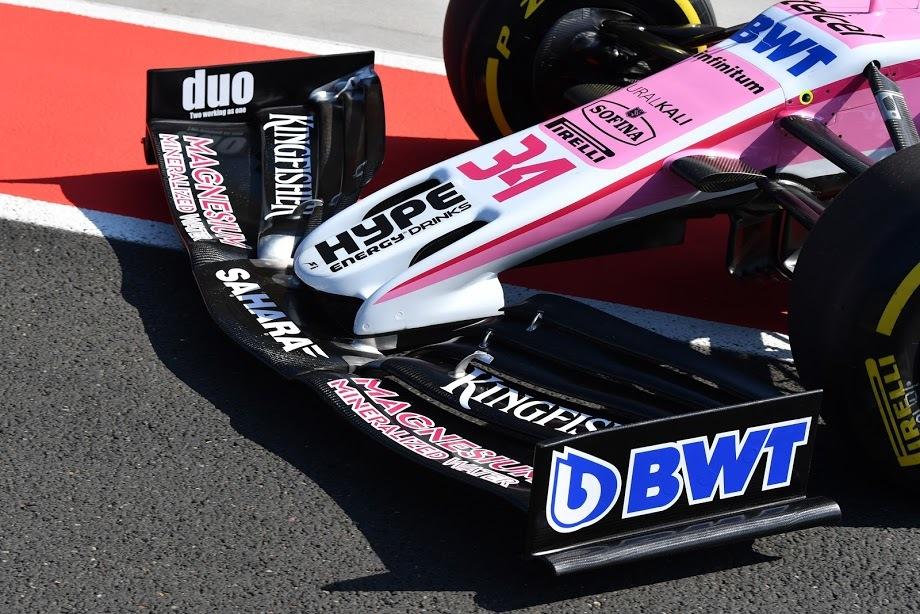 Alerón delantero del coche de Nicholas Latifi, Force India