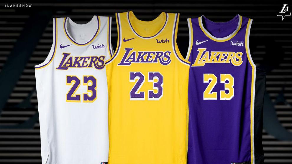 e169ee1e8 NBA  Los Lakers desvelan su camiseta Showtime para la próxima ...