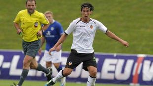 Parejo durante un partido de pretemporada ante el Leicester en 2011.
