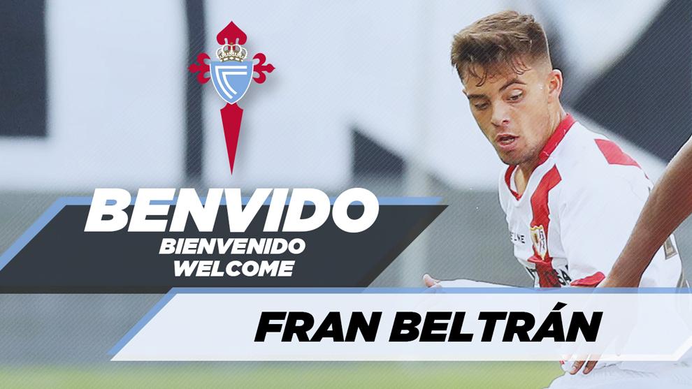 El Celta de Vigo ha contratado a Fran Beltrán para las próximas...