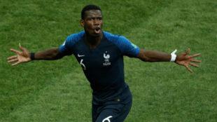 Pogba celebra un gol en el pasado Mundial.