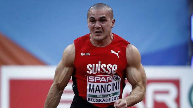 Pascal Mancini, en el Europeo en pista cubierta de 2017.