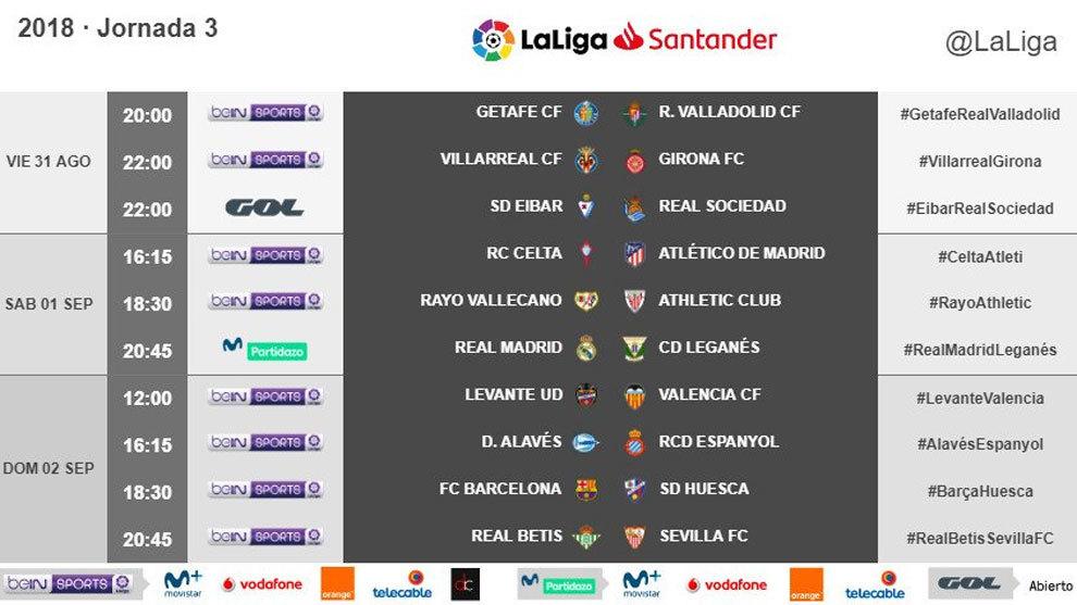 Calendario Sevilla.Liga Santander 2018 19 El Betis Sevilla Se Jugara El Domingo 2 De
