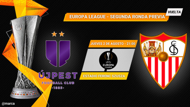 Ujpest vs Sevilla - Previa Europa League