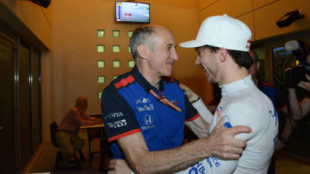 Tost, con Gasly.