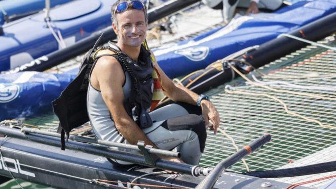Franck Cammas, a bordo del Norauto