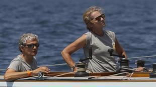 La infanta Elena, a bordo del 'Titia' en la 37 Copa del Rey...