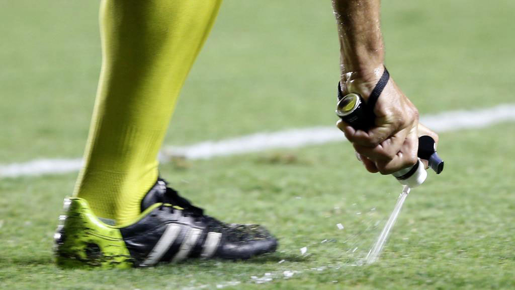 Referees' use of vanishing spray dependent on court hearing