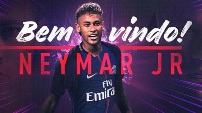 Imagen de Neymar Jr en su presentación con el PSG