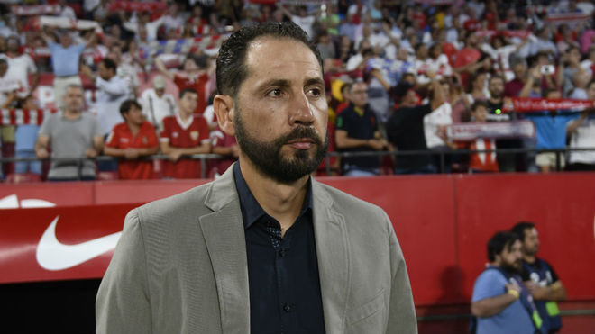Pablo Machín, en el partido de ida.
