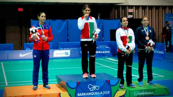 Gaitán y Solis compartieron podio en el individual.