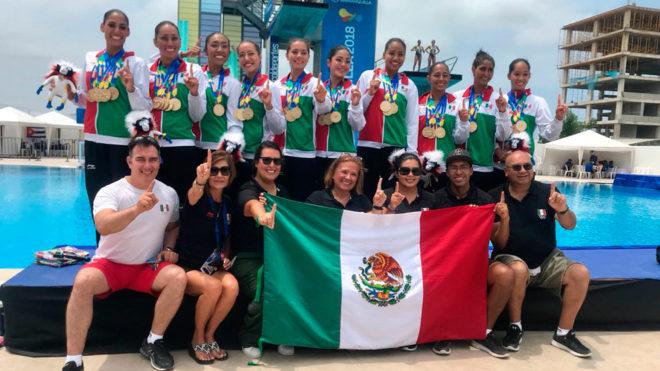 El nado sincronizado mexicano acaparó las medallas en Colombia