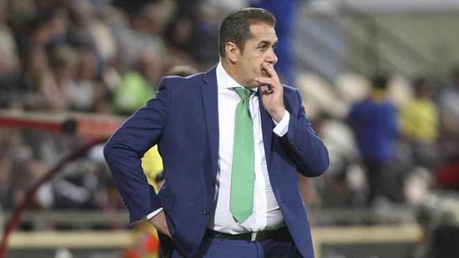 Sandoval, durante un partido del Córdoba la pasada temporada.