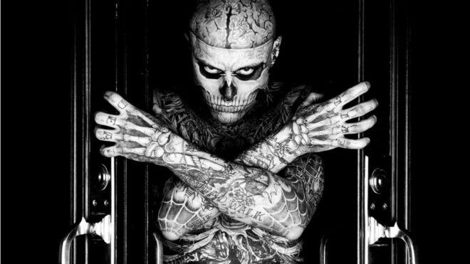Zombie Boy, alias de Rick Genest, era un conocido modelo y artista por...