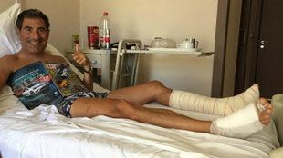 El alicantino, hospitalizado con varias fracturas.