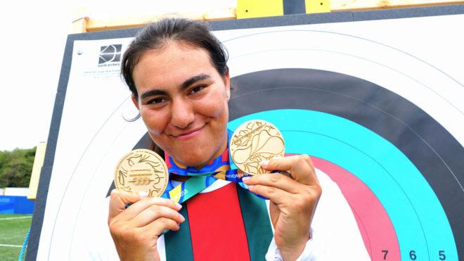 Alejandra Valencia conquistó la prueba de Tiro con arco.