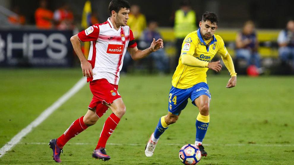 Aaron Martín, durante un partido contra Las Palmas.
