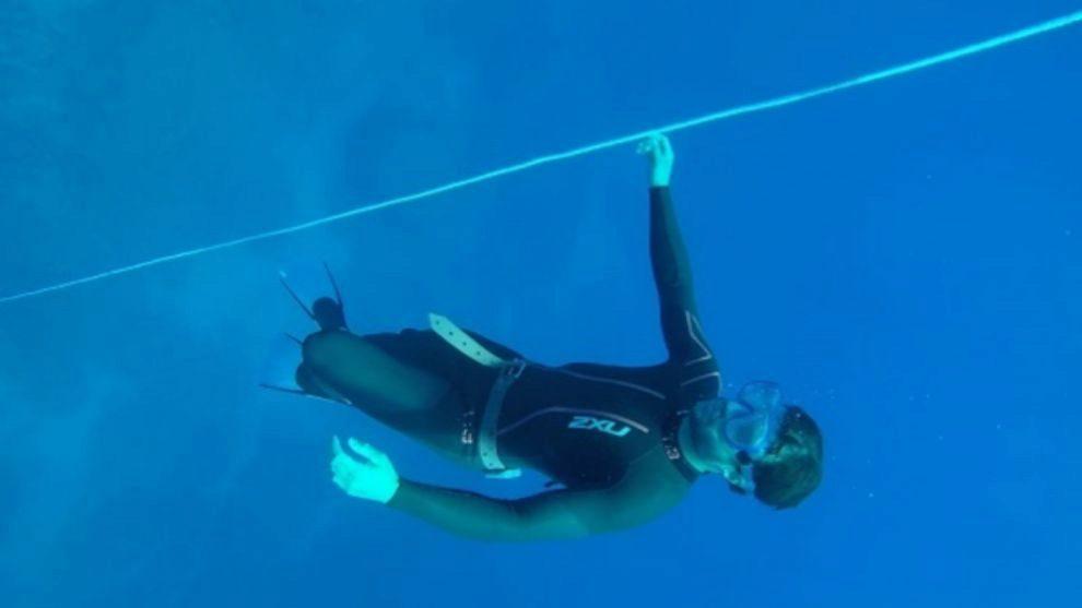 Practicar debajo del agua para rendir en la alta montaña, el objetivo...