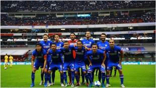 Formación de Cruz Azul contra Tigres en la jornada 3 del Apertura.