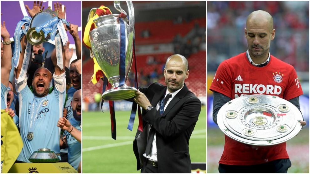 Premier League Guardiolas Amazing Trophy Haul 24 In Ten Years Of