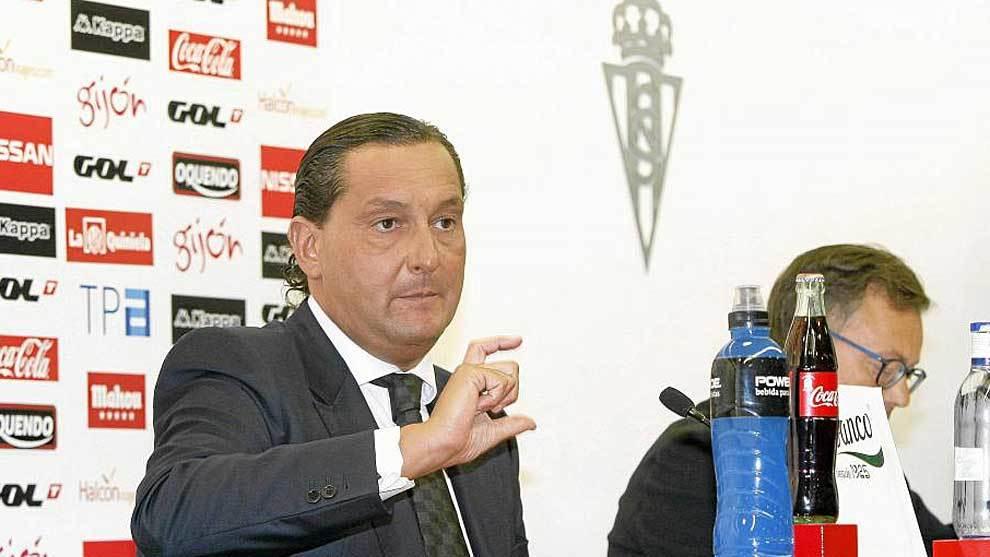 Alfredo García Amado, en su etapa en el Sporting de Gijón