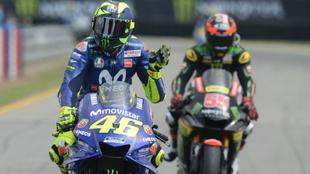 Rossi, tras acabar 4º en Brno.