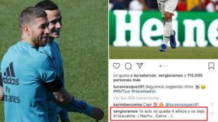 El vacile de Sergio Ramos a Lucas Vázquez que deja entrever su año de retirada