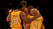 Ron Artest con los Lakers en 2010