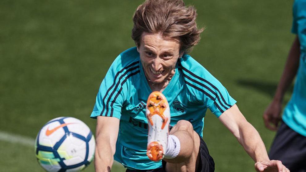 Luka Modric en un entrentamiento
