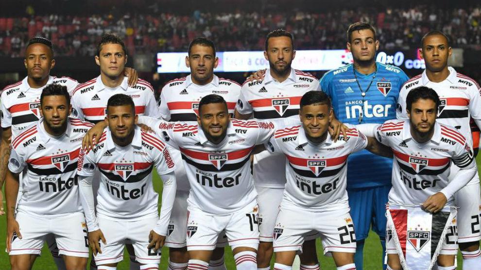 El once de Sao Paulo que se midió a Colón en la Sudamericana.