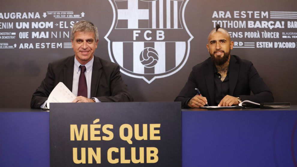 New Barcelona signing Vidal determined to win three Champions Leagues