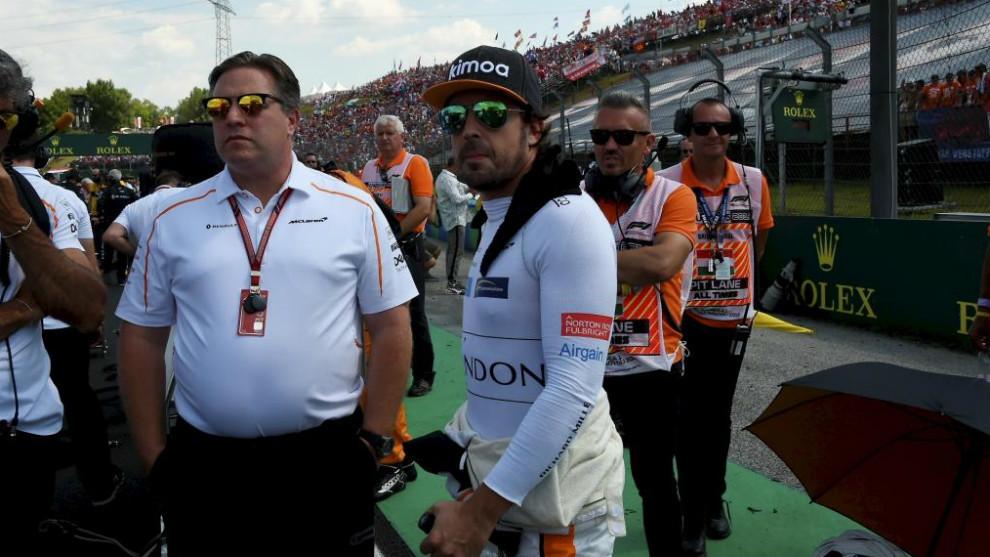 Zak Brown y Fernando Alonso