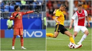 Memo, en un partido con México / Huntelaar, en un duelo con el Ajax.