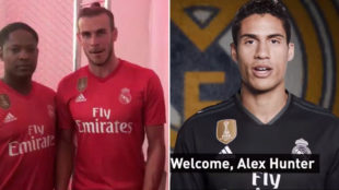 Real Madrid players welcome a new signing: Alex Hunter!