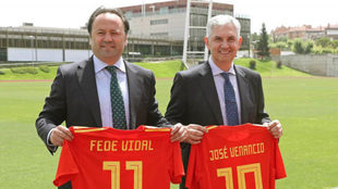 Fede Vidal y José Venancio López, en su presentación /