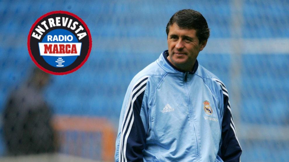 López Caro en su etapa como tecnico del Real Madrid hace 12 años.