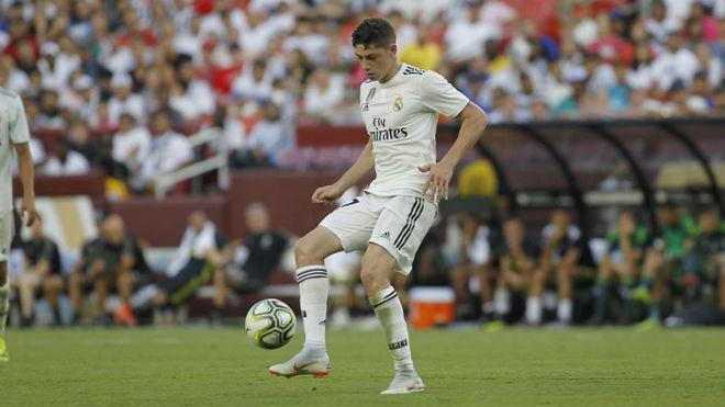 Fede Valverde, en el partido contra la Juventus