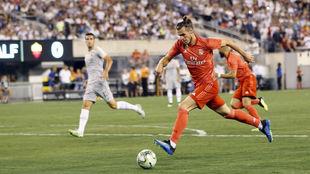 Bale, en una acción del partido ante la Roma.