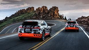 El Audi e-tron prototype, en Pikes Peak